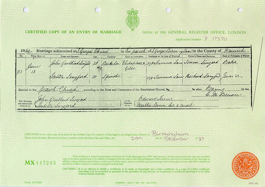 John Greathead and Isabella Langford 1869 (Marriage Certificate).jpg