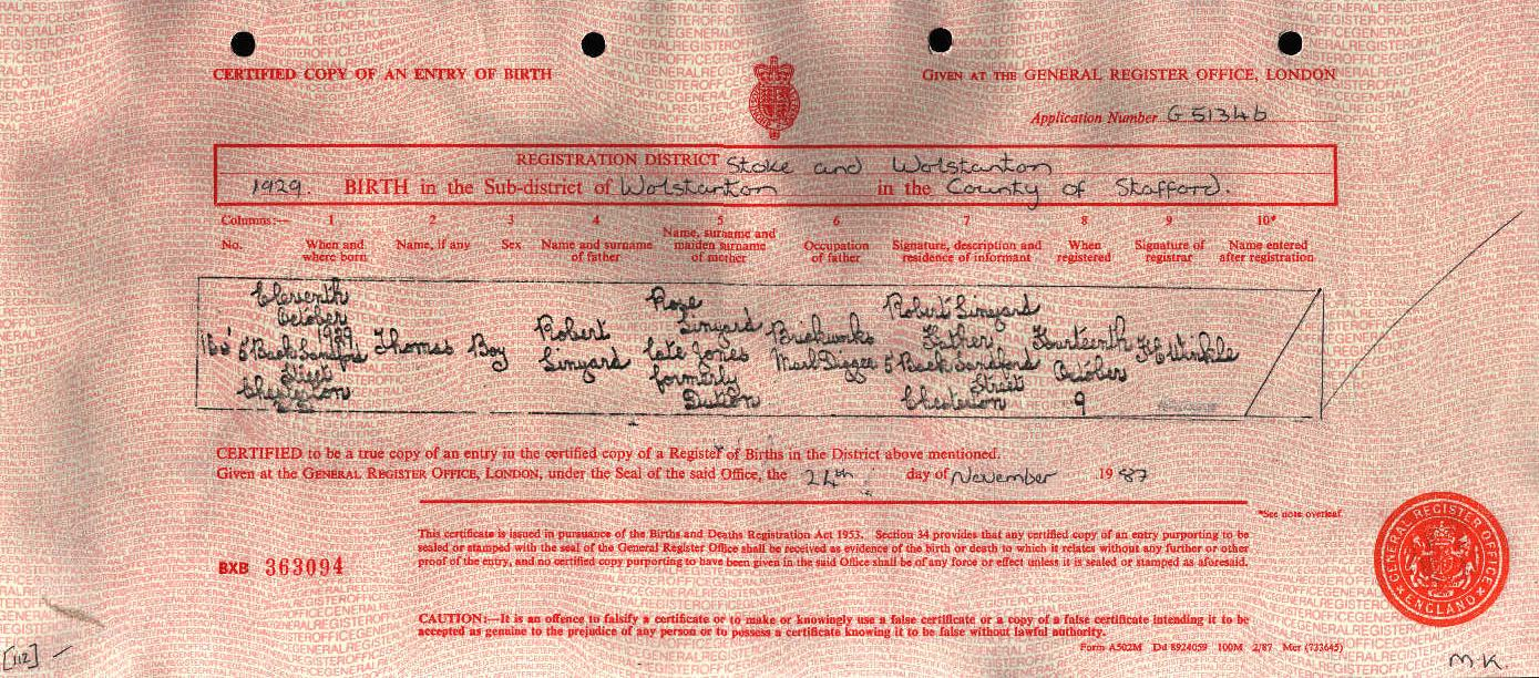 Thomas Linyard 1929 (Birth Certificate).jpg